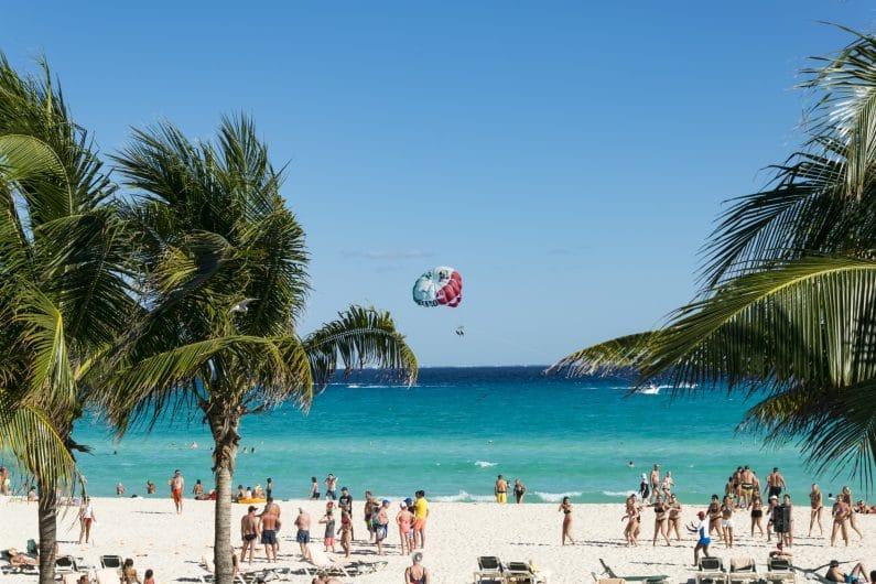 Playa en Cancun, Mexico