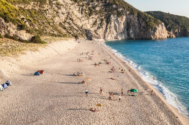 Playa de Grecia para turismo