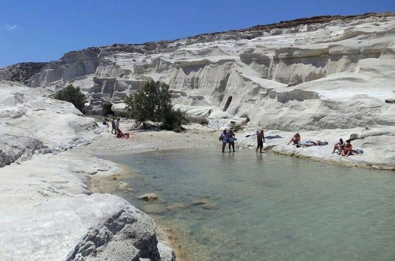 Playa Sarakiniko Grecia