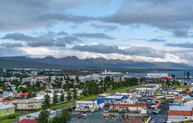 Akureyri ciudad Islandia