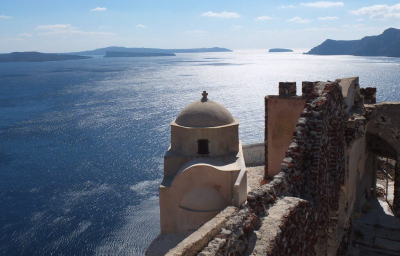 Castillo de Agios Nikolaos en Oia