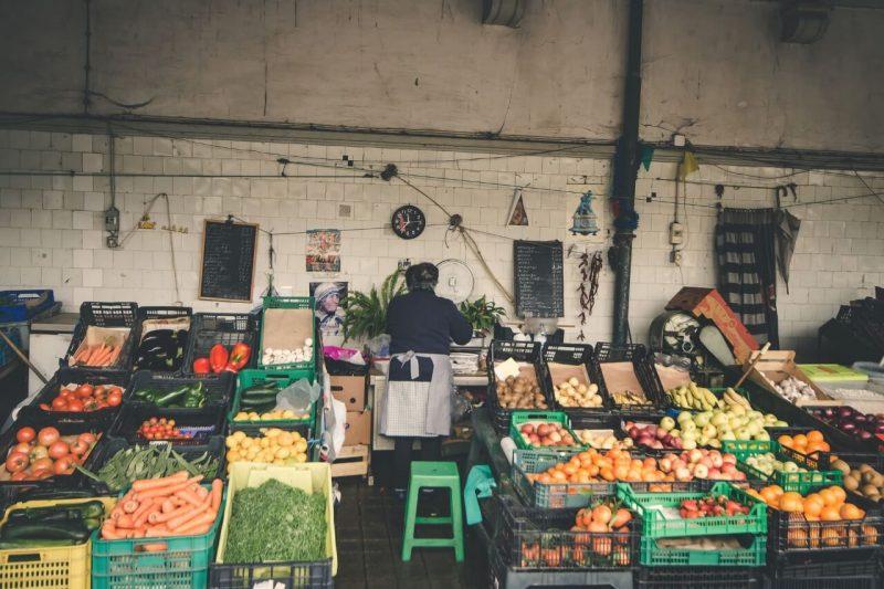 Mercado del Bolhao en Oporto
