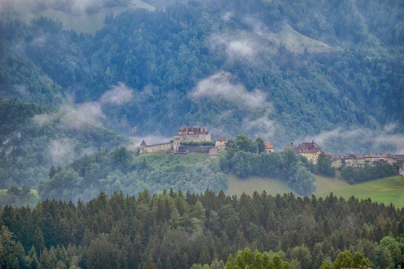 Vistas de Gruyères y el Castillo