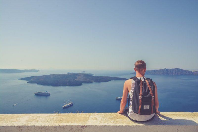Vistas desde lo más alto de Oia