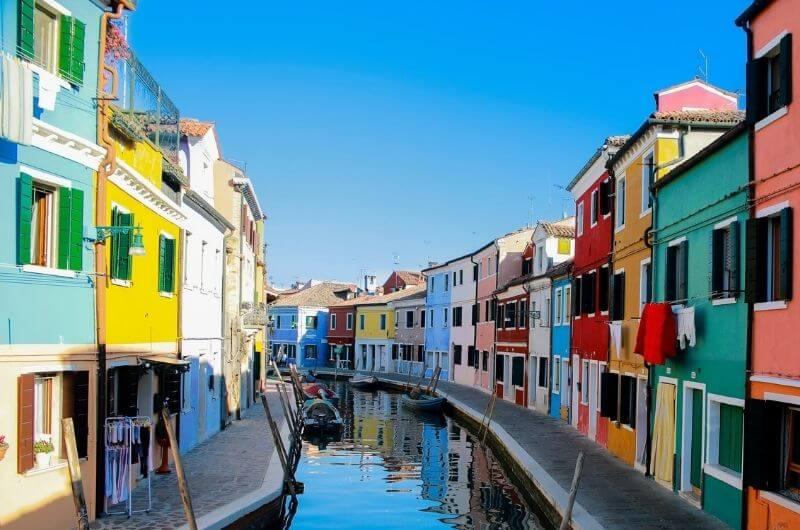 Burano en Venecia