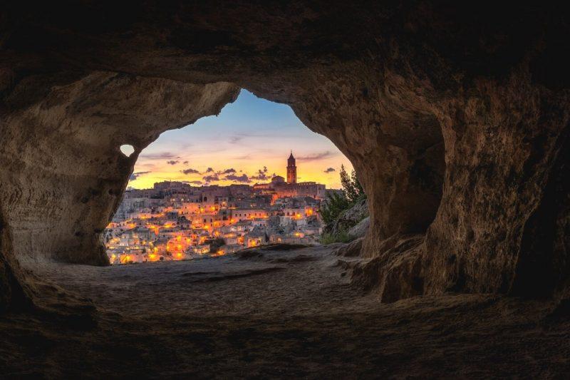 Matera desde una cueva
