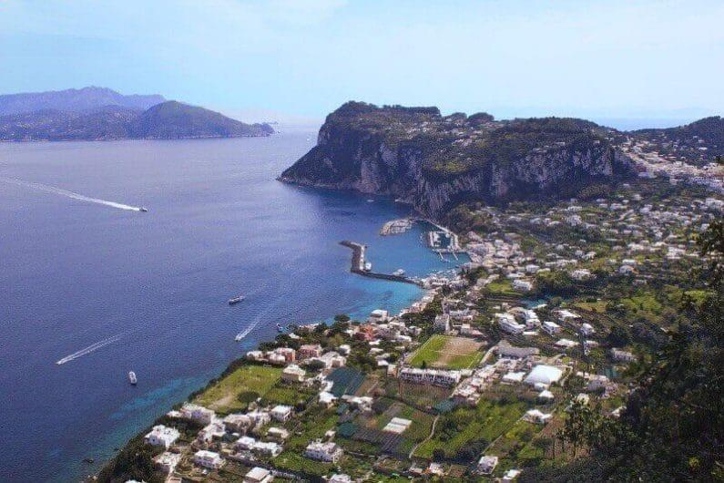 Vistas de Capri Italia