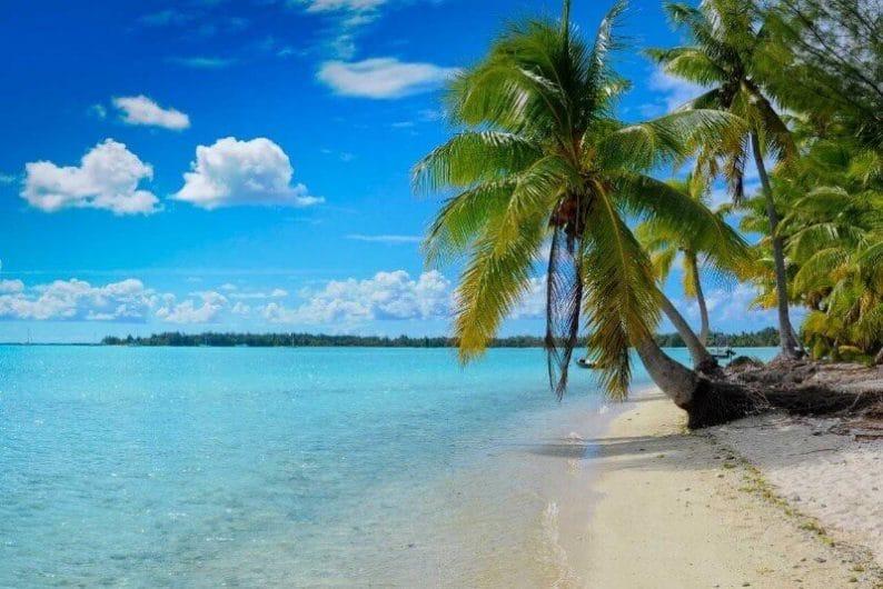 Playa en Isla Cielo Azul