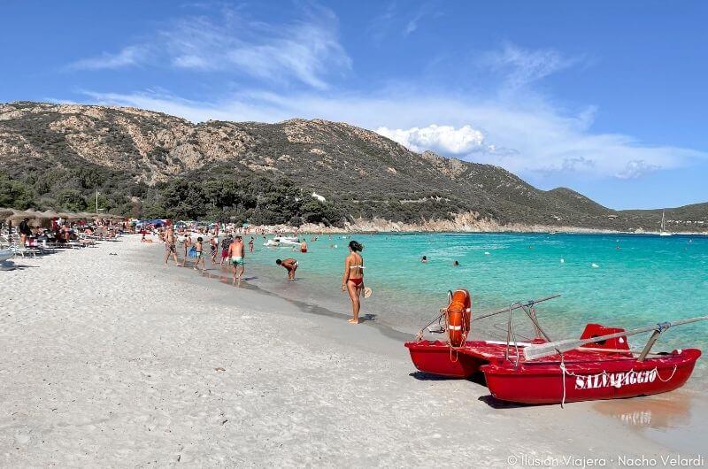 Spiaggia di Tuerredda, una de las playas más famosas de Cerdeña